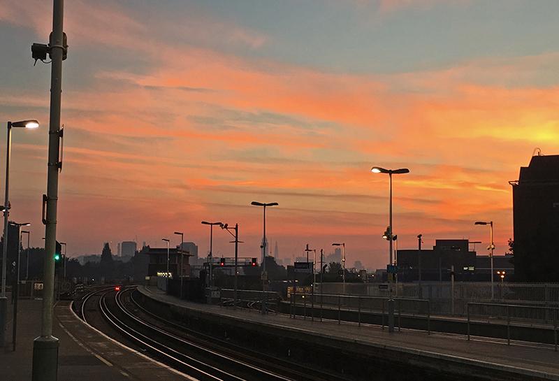 sunset over Clapham Junction