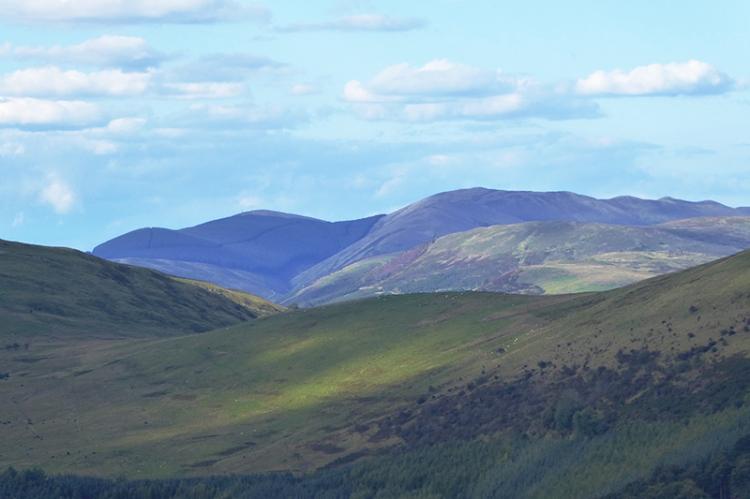 Bigger hills beyond the valley
