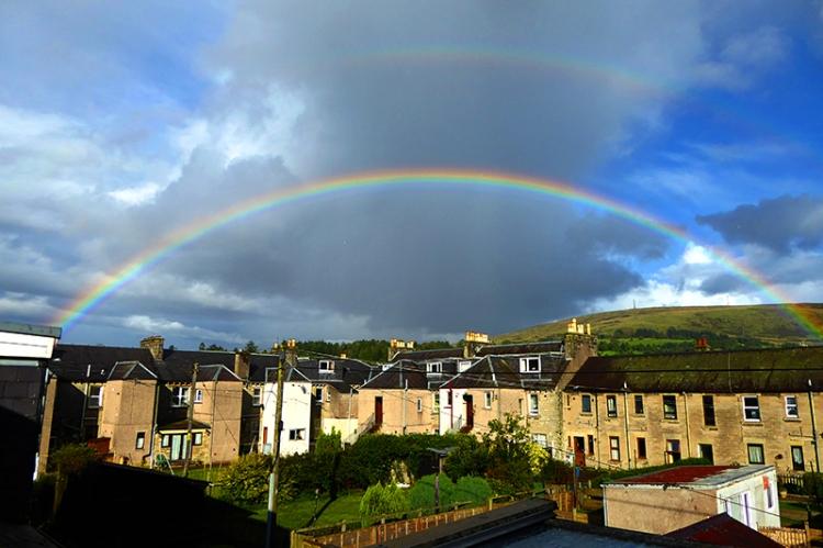 rainbow over Henry Street