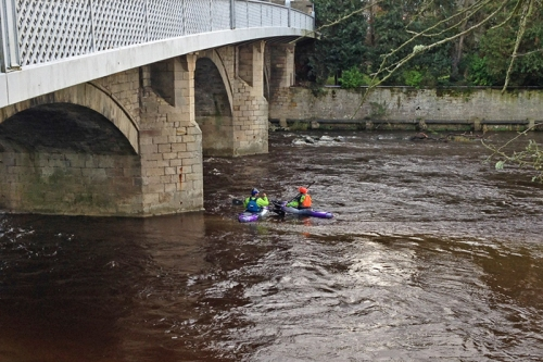 Canoeists on Esk
