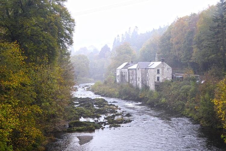 Langholm Distillery in autumn