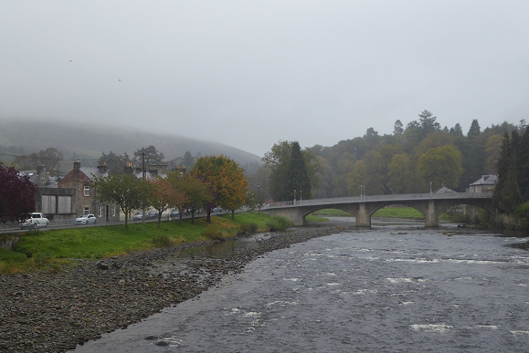 Misty view of Esk