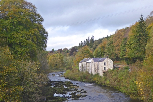 Langholm Distillery in autumn