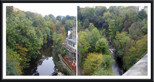 Water of Leith from above