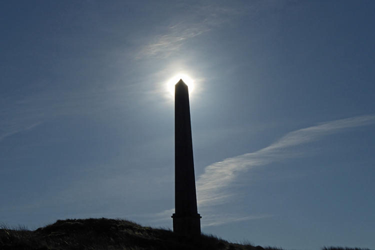 Monument with halo