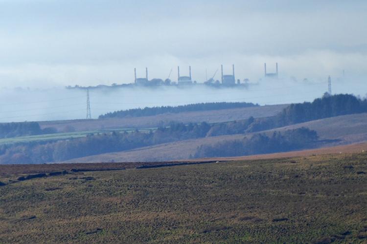 Chapelcross in mist
