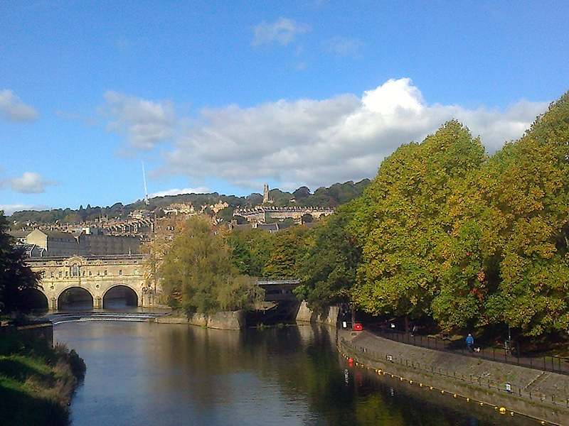 The river Avon at Pulteney Bridge