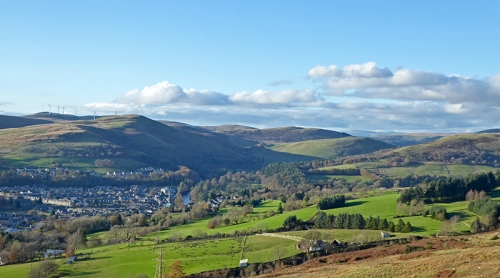 Viw of langholm from Whita