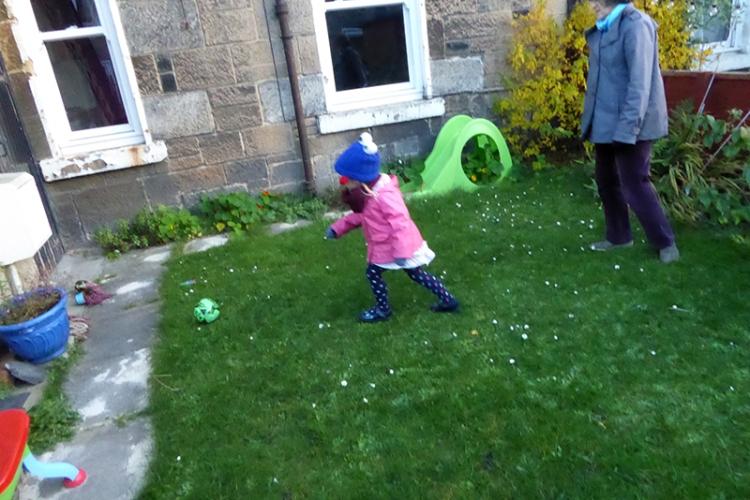 Matilda in garden