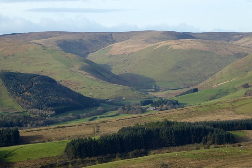 ewes valley from above Arkleton