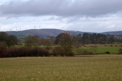 View of ewes wind farm