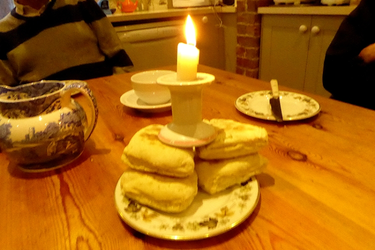 scone with candle