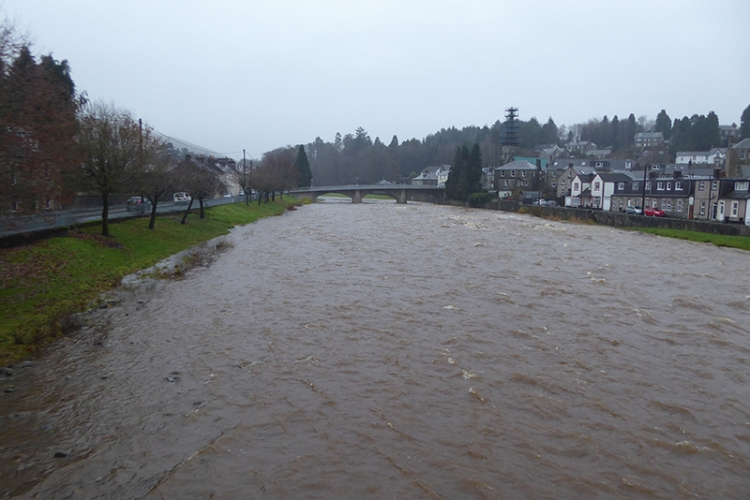 Esk in mild flood
