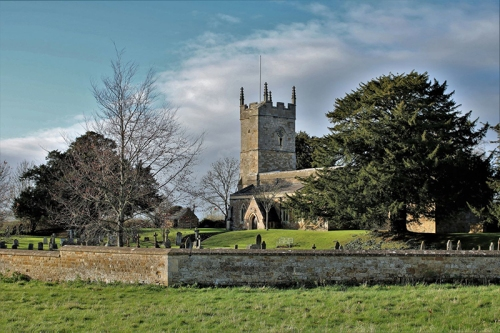 The Church of England parish church of St Andrew has a 14th-century Perpendicular Gothic west tower with a 15th-century top. The chancel was rebuilt in 1688.