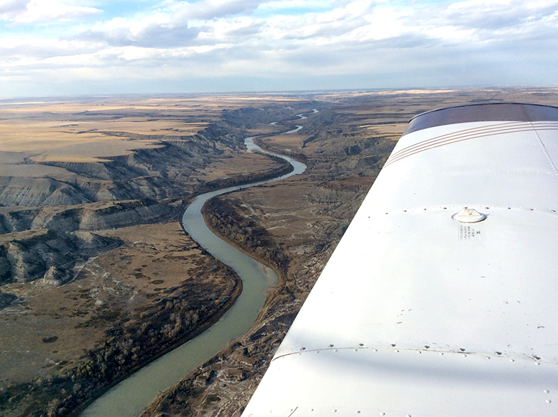 Red Deer River Valley in Saskatchewan