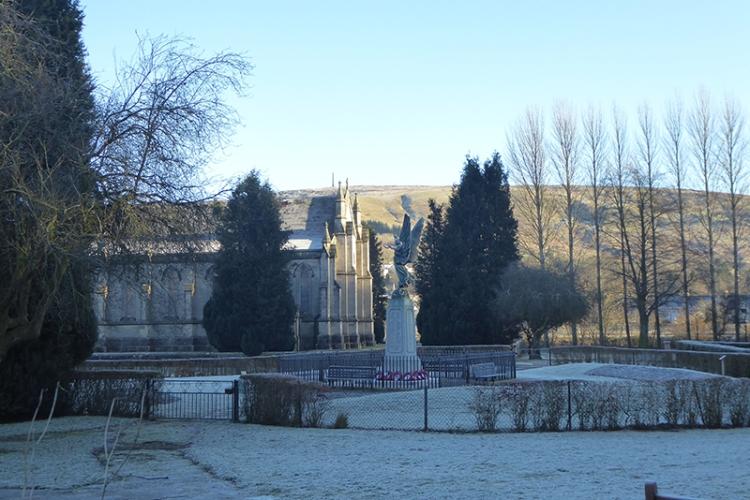 Langholm Church in winter