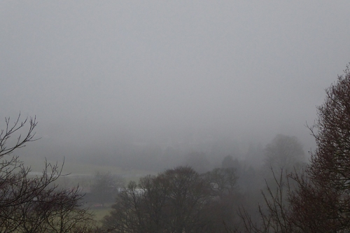 misty view from Round House