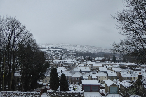 langholm in snow