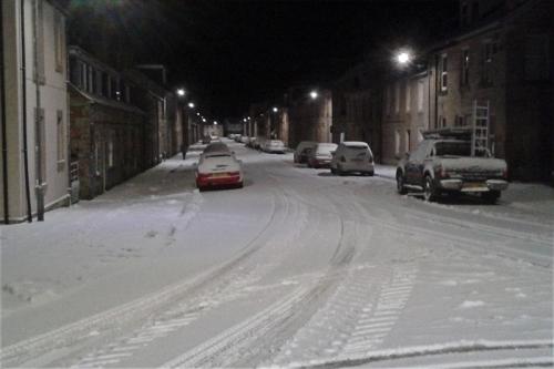 Henry Street in snow