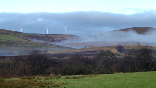 Misty windmills