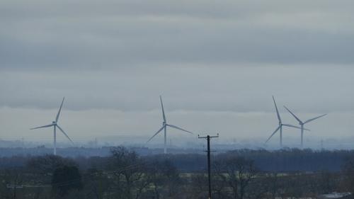Misty windmills gretna