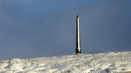snowy monument