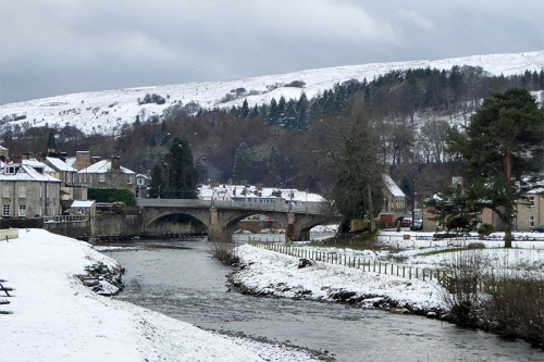 Langholm Bridge snow