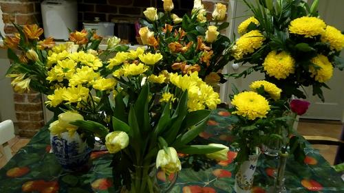 Golden wedding bouquet