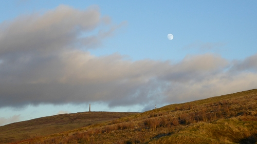 moon and monument