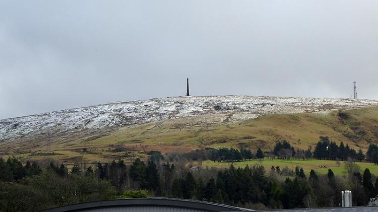 monument in snow