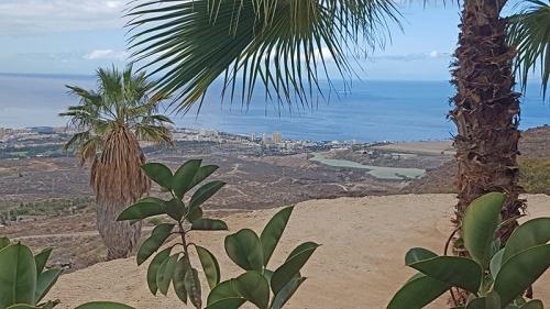 Down below is the busy resort of Playa de Las Americas