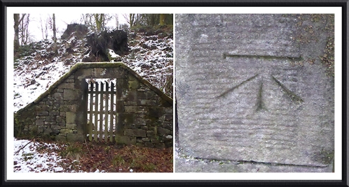 Old gate and benchmark