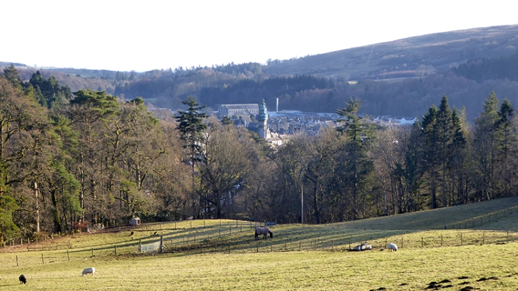Town from pathhead