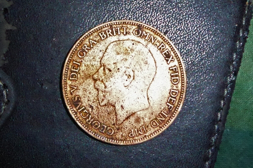 1928 penny found in dam