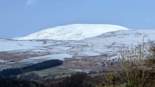 snow on the hills Arkleton