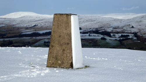 Warbla trig point snow