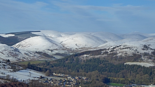 Esk valley with snow