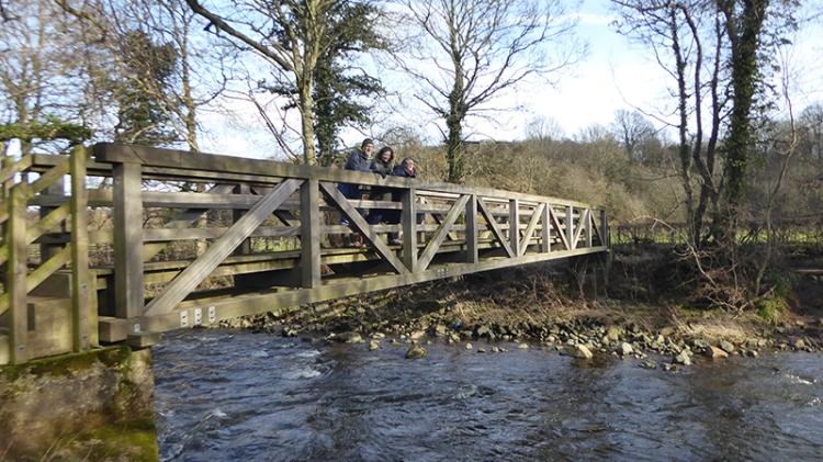 new bridge over Caldew