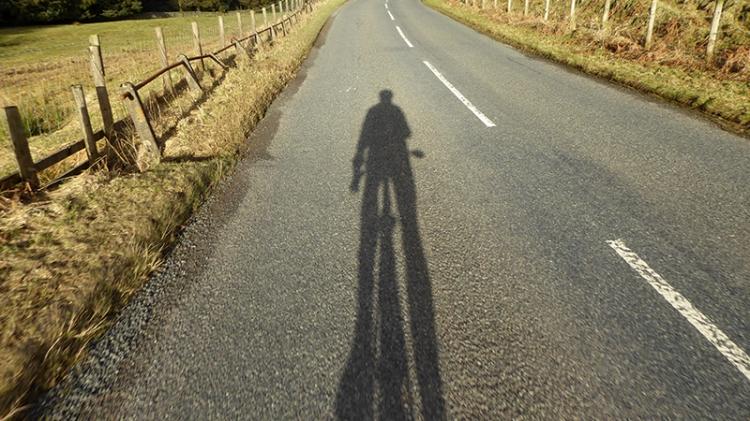 cycling shadow