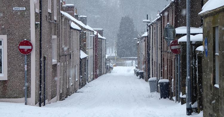 John Street in snow