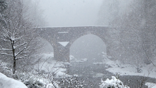 skippers bridge in snow