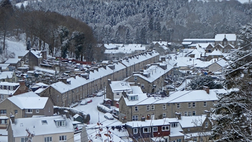 Eskdaill Street in snow