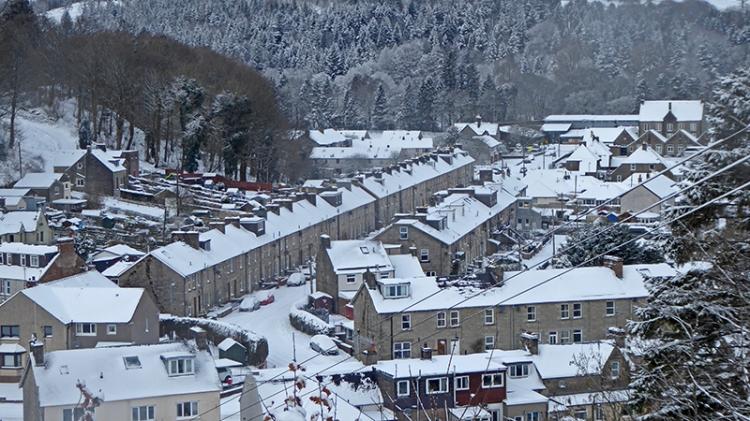 Eskdaill Street in snow