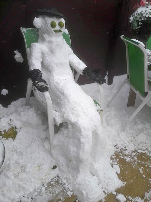 Tony's snowman
