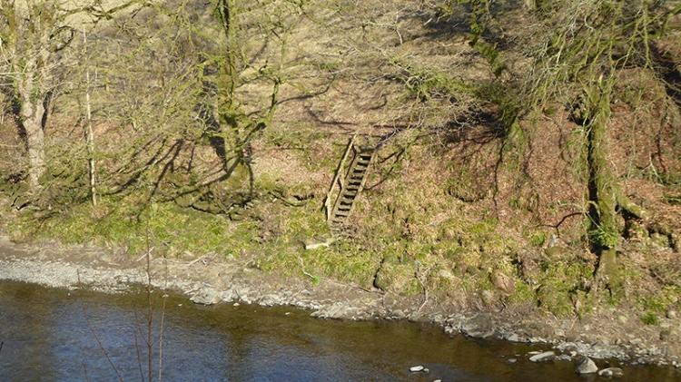 fishermen's steps at Broomholm