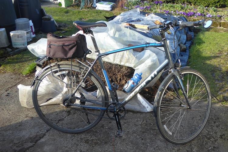 bike and manure