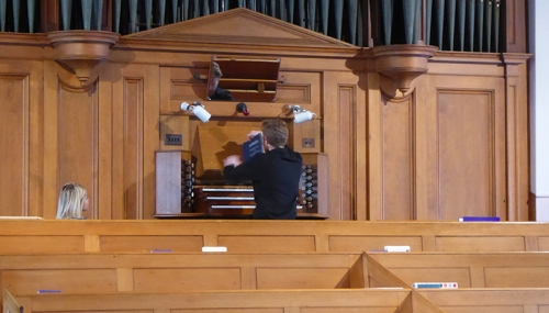 henry at organ