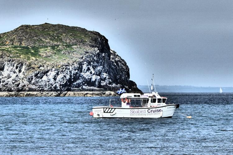 Bass rock boat