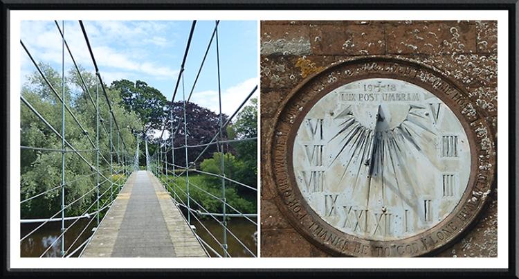 bridge and sundial Kirkandrews