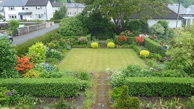 Front lawn from above